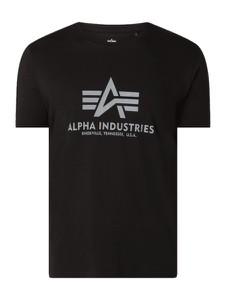 T-shirt Alpha Industries z krótkim rękawem w młodzieżowym stylu z bawełny