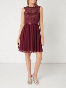 f476912a83 Sukienka Laona z okrągłym dekoltem w stylu glamour z szyfonu