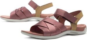 Różowe sandały Merrell w sportowym stylu na rzepy