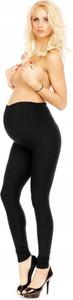 Brak Legginsy Ciążowe Ocieplane Czarne