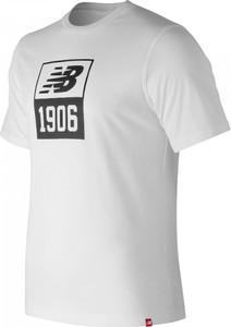 T-shirt New Balance w młodzieżowym stylu z bawełny z krótkim rękawem