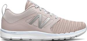 Różowe buty sportowe New Balance w sportowym stylu z płaską podeszwą