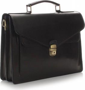Czarna torba Vera Pelle ze skóry