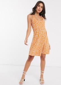 Pomarańczowa sukienka People Tree z bawełny