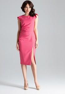 Sukienka LENITIF midi z okrągłym dekoltem bez rękawów