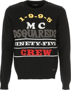 Czarny sweter Dsquared2 w młodzieżowym stylu z bawełny