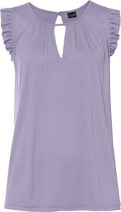 Bluzka bonprix BODYFLIRT ze stójką z długim rękawem z nadrukiem