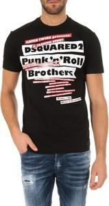 Czarny t-shirt Dsquared2 z bawełny w młodzieżowym stylu