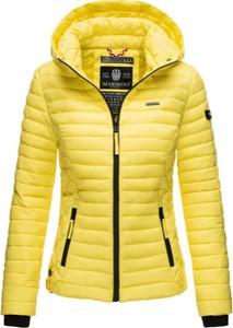 Żółta kurtka Marikoo w stylu casual krótka