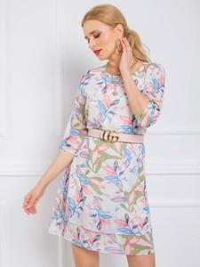 Sukienka Sheandher.pl w stylu casual mini z długim rękawem