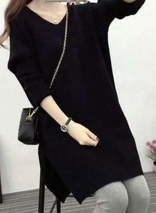 Czarny sweter Sandbella z dzianiny