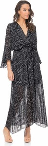Sukienka Tantra z długim rękawem z dekoltem w kształcie litery v maxi