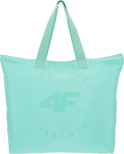 Zielona torebka 4F do ręki w sportowym stylu duża