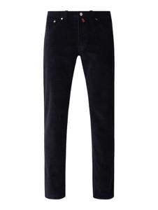 Granatowe spodnie Pierre Cardin ze sztruksu
