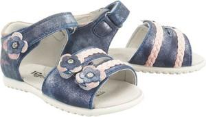 Buty dziecięce letnie Wojtyłko ze skóry na rzepy