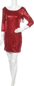 Sukienka Babe Society z długim rękawem z okrągłym dekoltem