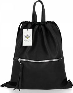 Czarna torebka Bee Bag duża w stylu glamour na ramię