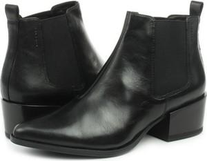Czarne botki Vagabond z płaską podeszwą