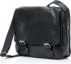 Granatowa torba DAAG ze skóry