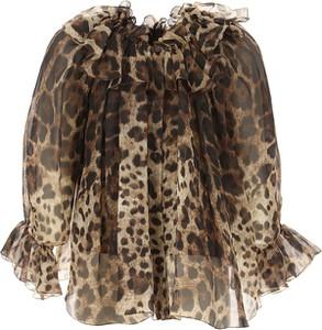 Bluzka dziecięca Dolce & Gabbana z jedwabiu z długim rękawem