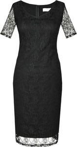 Czarna sukienka Fokus ołówkowa w stylu klasycznym midi