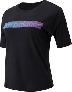 Bluzka New Balance z okrągłym dekoltem z krótkim rękawem