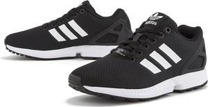 Czarne buty sportowe Adidas sznurowane zx flux