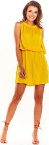 Żółta sukienka Awama bez rękawów mini