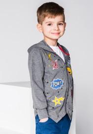 Ombre clothing bluza rozpinana z kapturem dziecięca kb017 - grafitowa