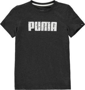 Czarna koszulka dziecięca Puma