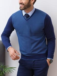 Niebieski sweter Lanieri Fashion w stylu casual
