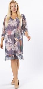 Sukienka Ptakmoda.com z długim rękawem z tiulu