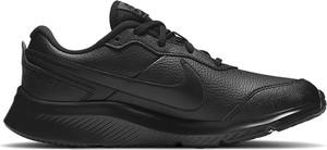 Czarne buty sportowe dziecięce Nike ze skóry sznurowane dla chłopców