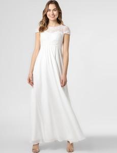 Sukienka Luxuar Fashion rozkloszowana z krótkim rękawem maxi