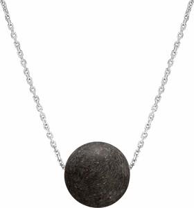 SADVA Naszyjnik srebrny z czarnym bursztynem 11 mm