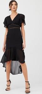 Czarna sukienka V by Very midi