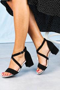 Sandały Sergio Leone z klamrami na słupku