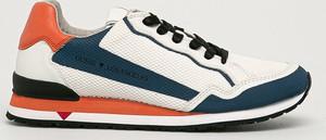 Buty sportowe Guess sznurowane ze skóry ekologicznej