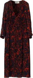Czarna sukienka By Malene Birger z długim rękawem gorsetowa