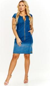 Sukienka Ptakmoda.com mini ołówkowa z jeansu