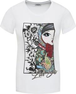 T-shirt Liu-Jo z krótkim rękawem z okrągłym dekoltem w stylu casual