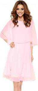 Różowa sukienka Lemoniade mini z długim rękawem