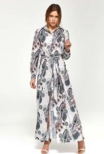 Sukienka Nife maxi z długim rękawem