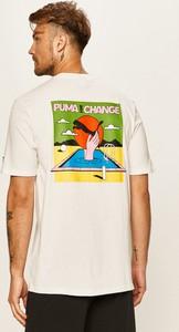 T-shirt Puma z nadrukiem z dzianiny