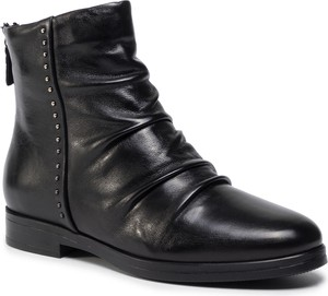 Czarne botki Gino Rossi w stylu casual