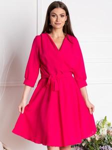 Sukienka Grandio z tkaniny z długim rękawem mini