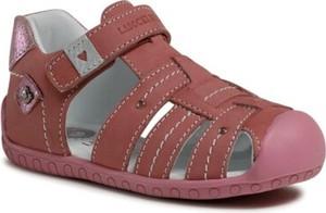 Różowe buty dziecięce letnie Lasocki Kids ze skóry na rzepy