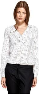 Bluzka Colett z dekoltem w kształcie litery v z długim rękawem w stylu casual