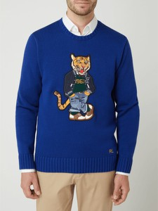 Sweter POLO RALPH LAUREN w młodzieżowym stylu z bawełny z okrągłym dekoltem