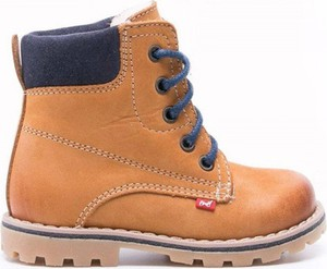 Brązowe buty dziecięce zimowe EMEL z wełny dla chłopców